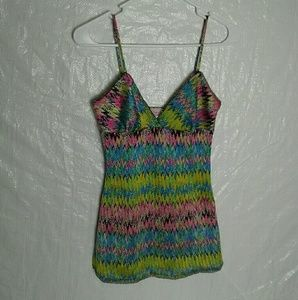 Glam Women's Camisole Multi Color Size S/Chico